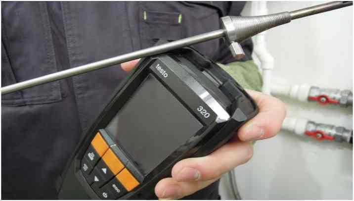 Настройка Testo анализатором дымовых газов дизельного котла