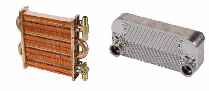 Первичный и вторичный теплообменники газового котла Daewoo